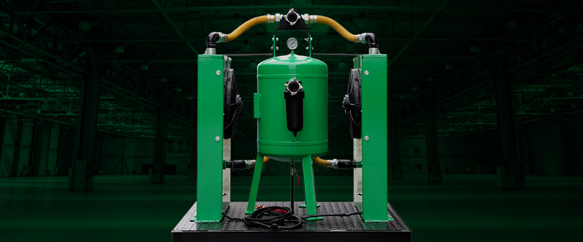 dustless blasting air dryer and cooler